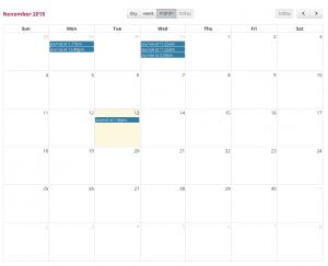 food diary calendar