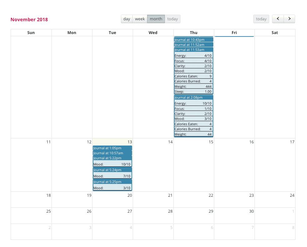 mood calendar
