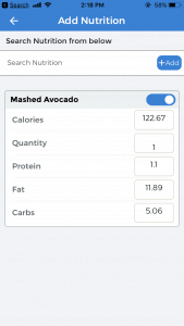 Nutrition Logging