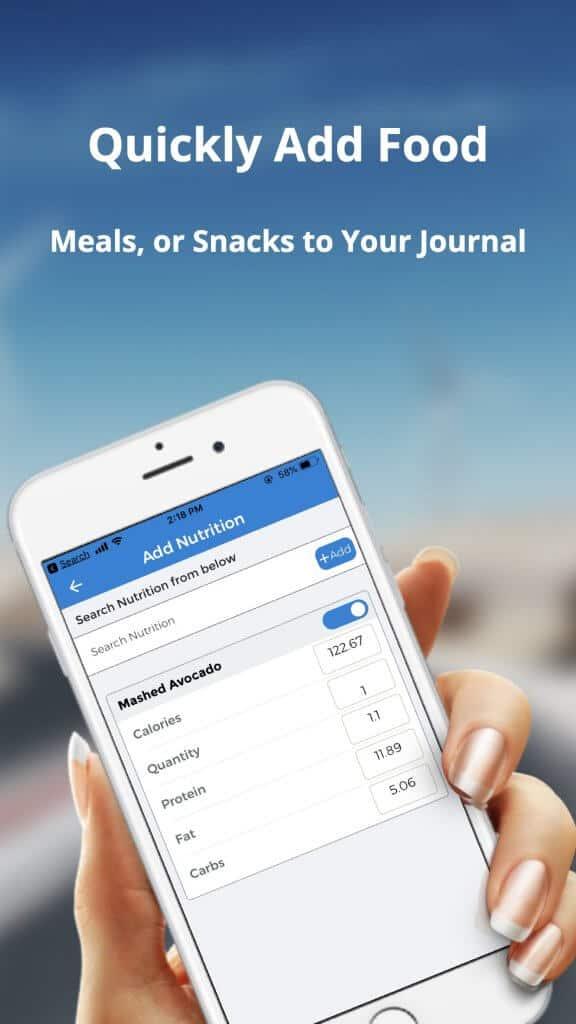 Track nutrition app