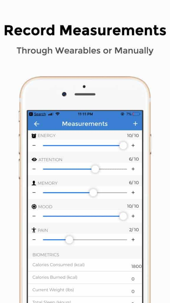 record health measurements