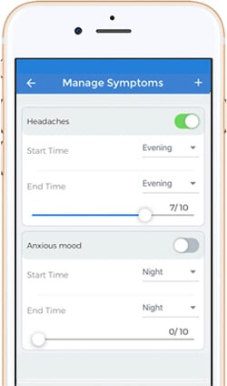 symptoms tracker app ios