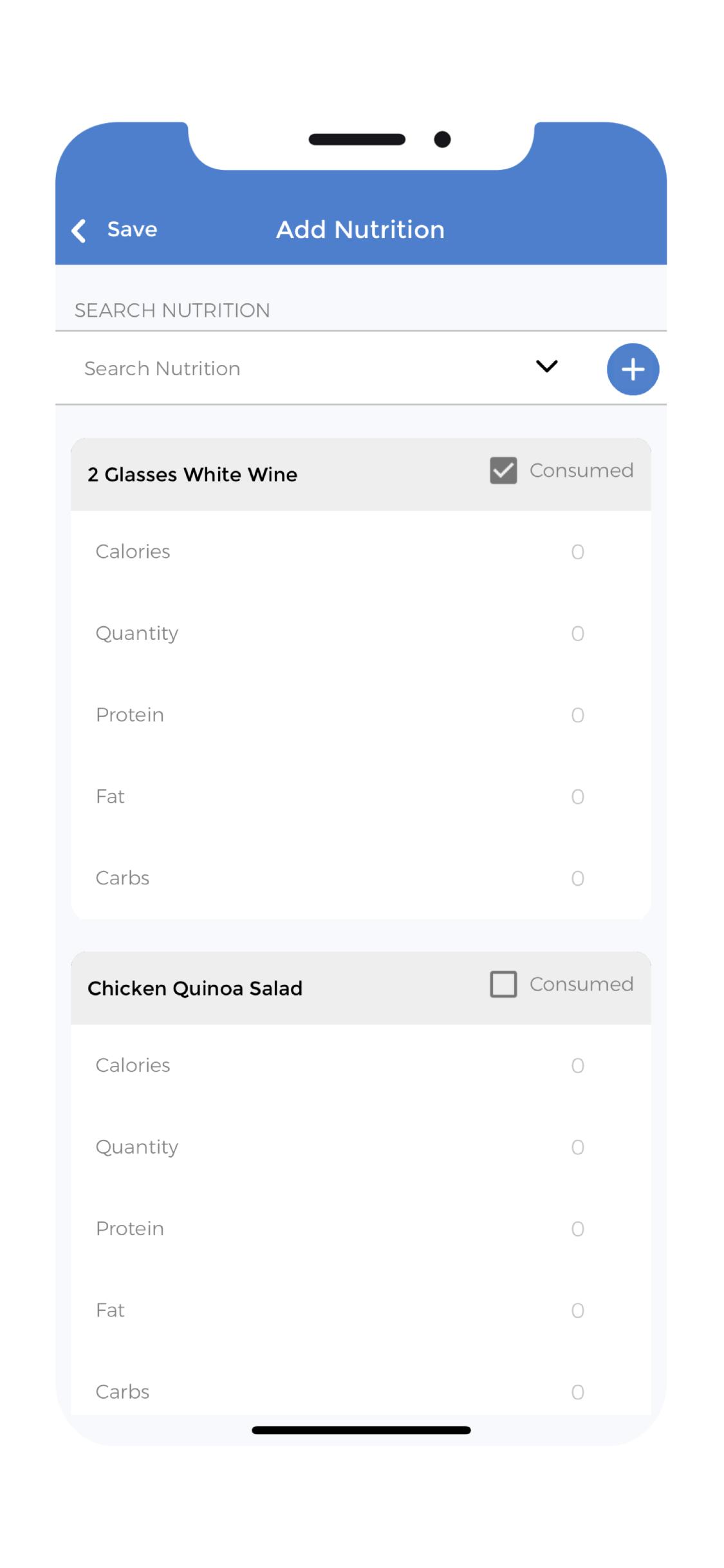 Alcohol App - Entry