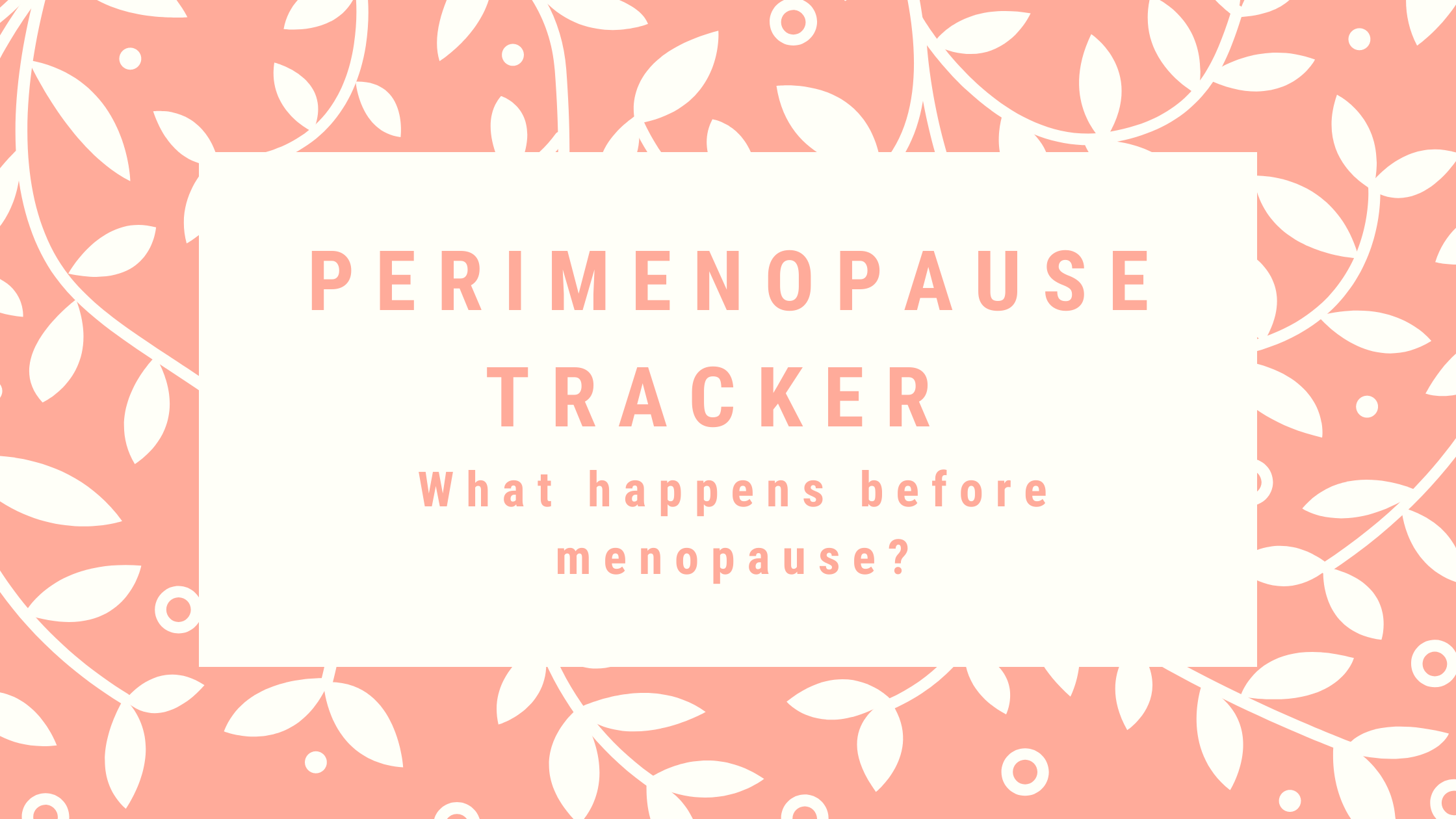 Perimenopause Tracker