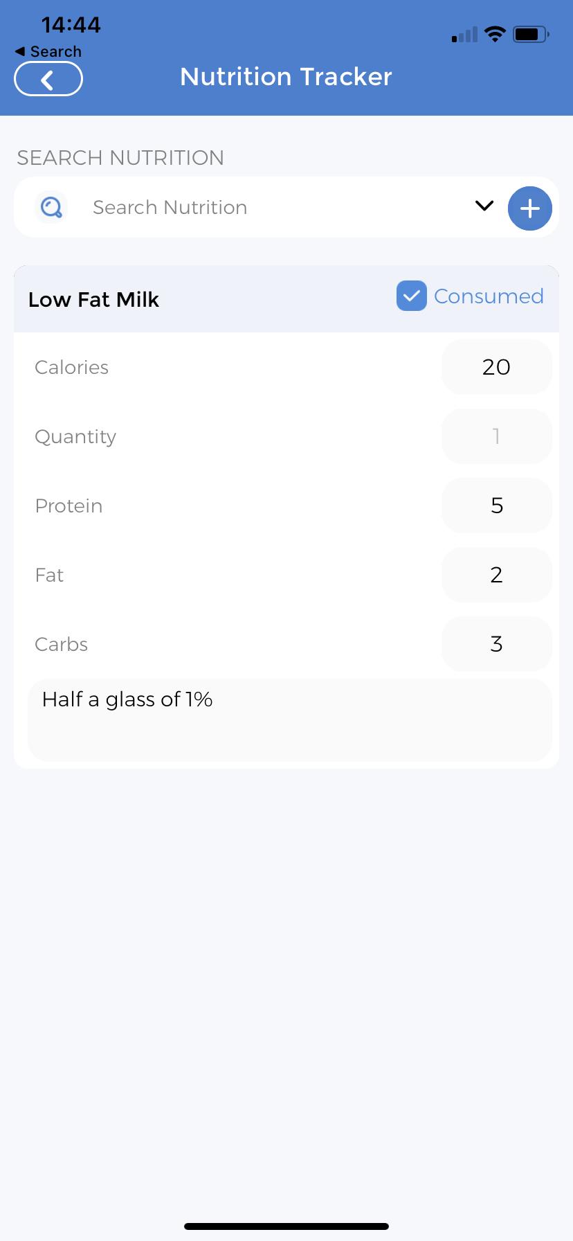 Nutritional Tracker