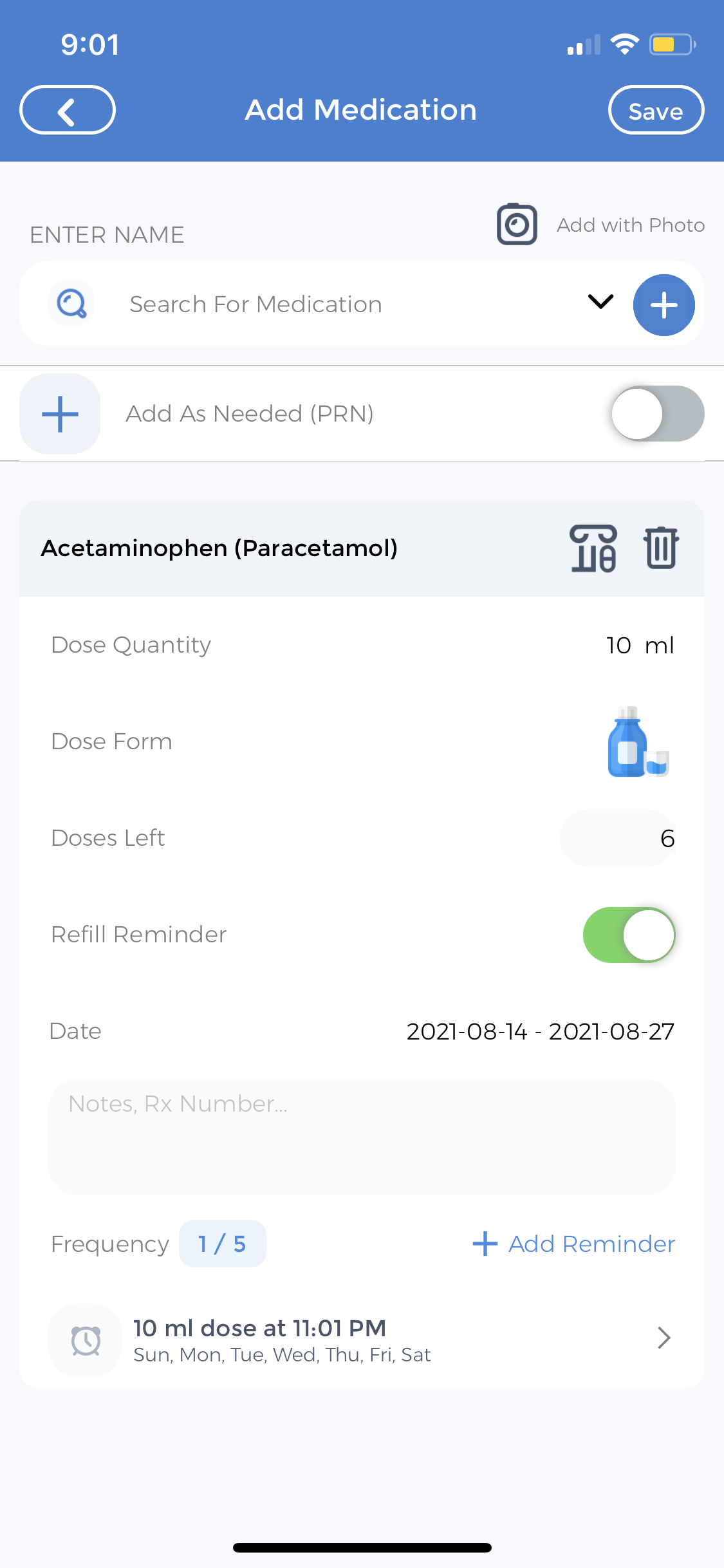 Medication Tracker for Baby Care