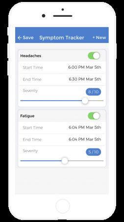 symptoms tracker app ios